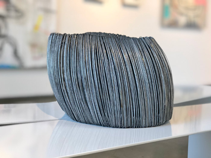 "Paula Castillo, ""BUND,"" 2018 individually hand twisted wire 7 x 9.50 x 7.50 in"