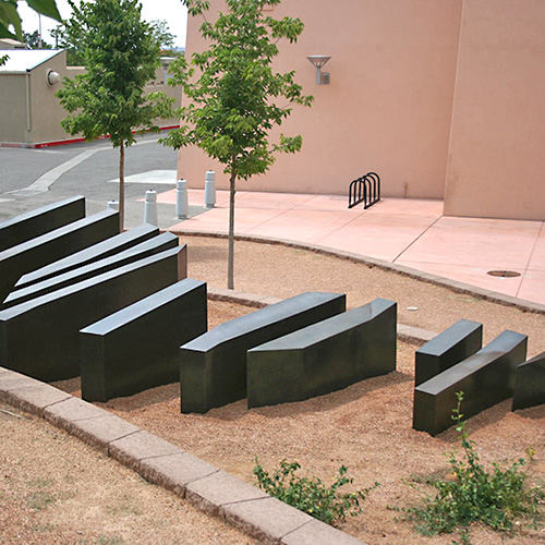 Paula Castillo - 100 Miles of Numbered Mountain, plate steel, 32' x 10' x 5''