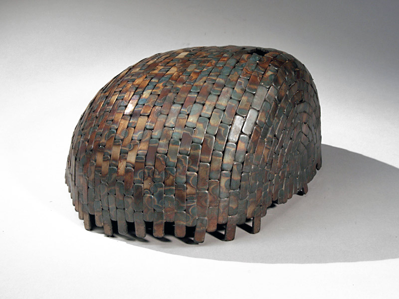 Paula Castillo Sculpture: steel by product, 12 x 8 x 14 inches, 2009